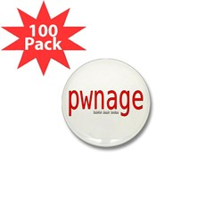 pwnage Mini Button (100 pack)