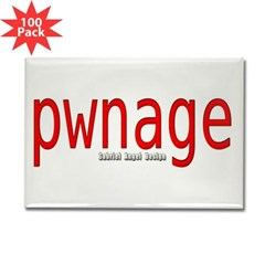 pwnage Rectangle Magnet (100 pack)