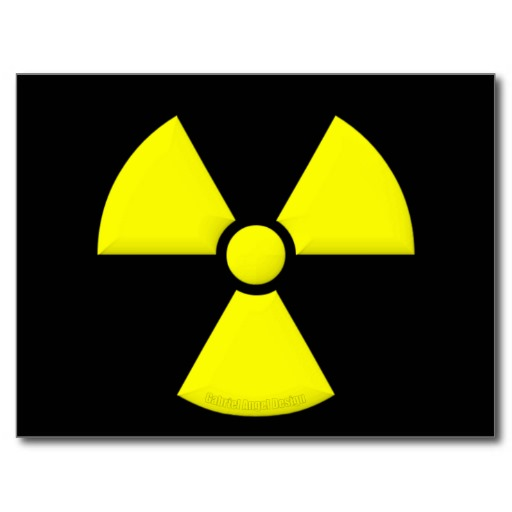 Radiation Symbol Postcard