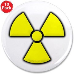 "Radioactivity 3.5"" Button (10 pack)"