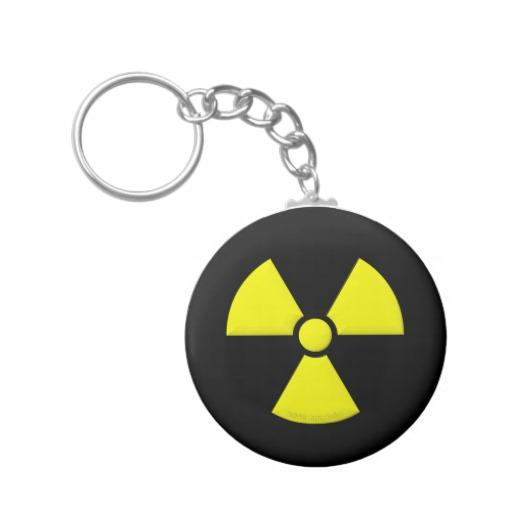 Radioactivity Basic Button Keychain