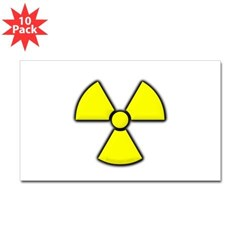 Radioactivity Rectangle Sticker 10 pk)