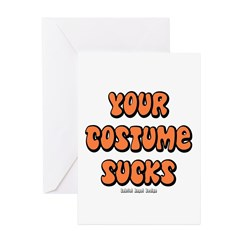 Your Costume Sucks Greeting Cards (Pk of 20)