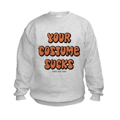 Your Costume Sucks Kids Crewneck Sweatshirt by Hanes