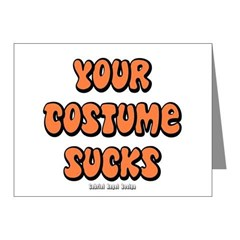 Your Costume Sucks Note Cards (Pk of 20)
