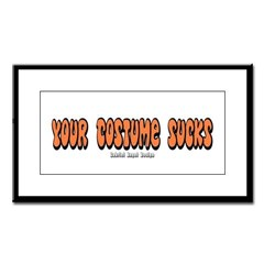 Your Costume Sucks Small Framed Print