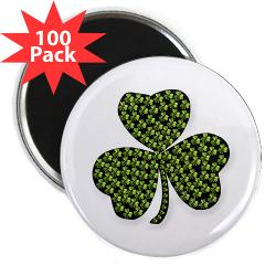 "Shamrock Outline 2.25"" Magnet (100 pack)"