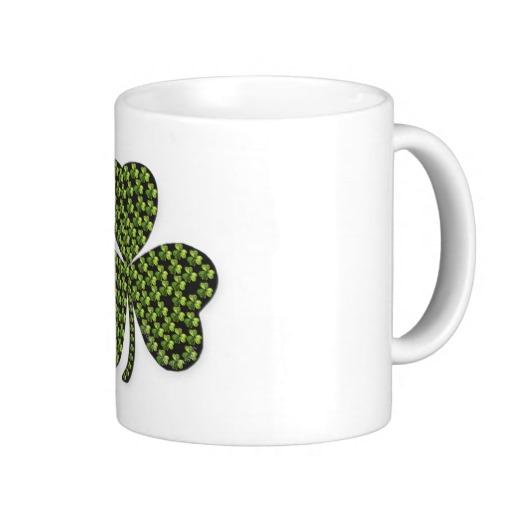 Shamrock Outline Coffee Mugs