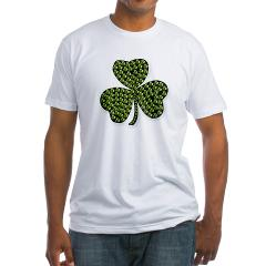 Shamrock Outline Fitted T-Shirt