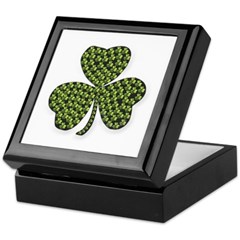Shamrock Outline Keepsake Box