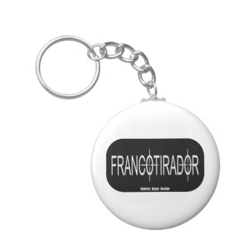 Francotirador Basic Button Keychain