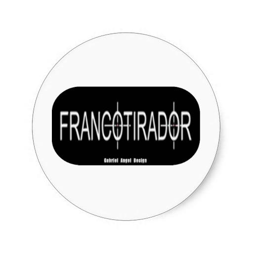 Francotirador Classic Round Sticker