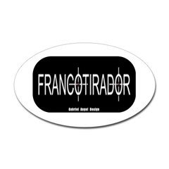 Francotirador Oval Decal