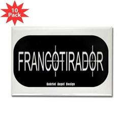 Francotirador Rectangle Magnet (10 pack)