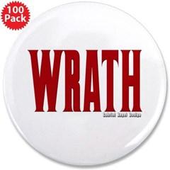 "Wrath Logo 3.5"" Button (100 pack)"