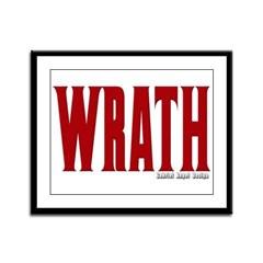 Wrath Logo Framed Panel Print