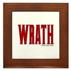 Wrath Logo Framed Tile