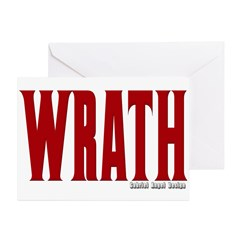 Wrath Logo Greeting Card