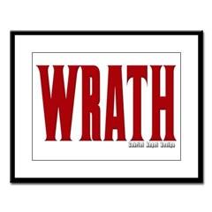 Wrath Logo Large Framed Print