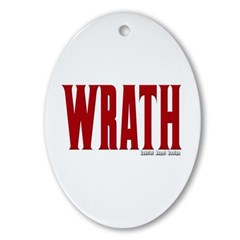 Wrath Logo Oval Ornament