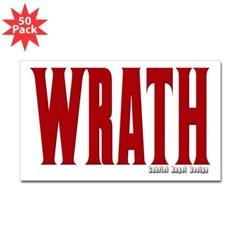 Wrath Logo Rectangle Sticker 50 pk)