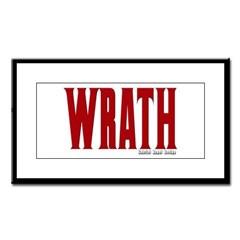 Wrath Logo Small Framed Print