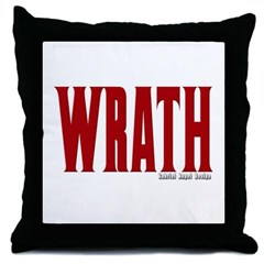 Wrath Logo Throw Pillow