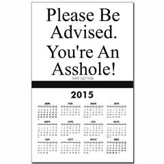 Please Be Advised Calendar Print