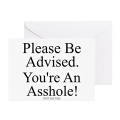 Please Be Advised Greeting Cards (Pk of 20)