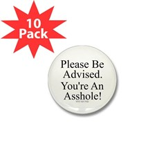 Please Be Advised Mini Button (10 pack)