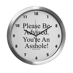 Please Be Advised Modern Wall Clock