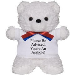 Please Be Advised Teddy Bear