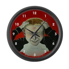 Irate Gamer Large Wall Clock