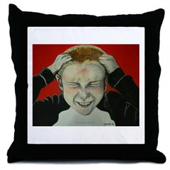 Irate Gamer Throw Pillow