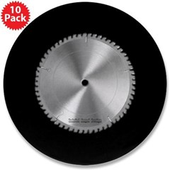 "Saw Blade 3.5"" Button (10 pack)"