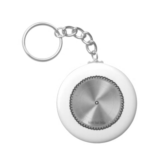 Saw Blade Basic Button Keychain