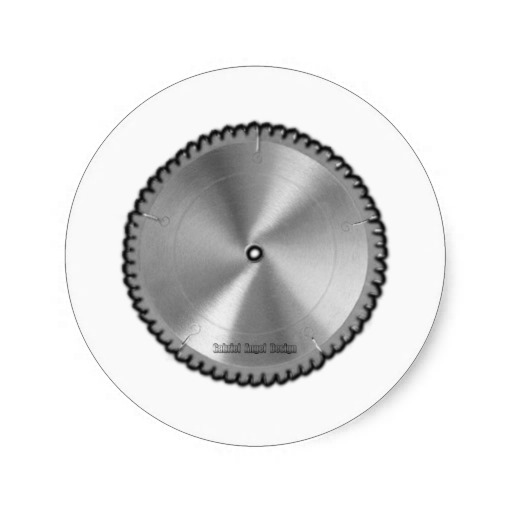 Saw Blade Classic Round Sticker