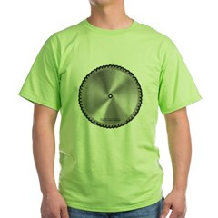 Saw Blade Green T-Shirt