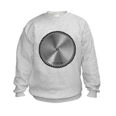 Saw Blade Kids Crewneck Sweatshirt by Hanes