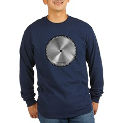 Saw Blade Long Sleeve Dark T-Shirt