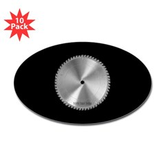 Saw Blade Oval Sticker (10 pk)