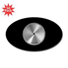 Saw Blade Oval Sticker (50 pk)