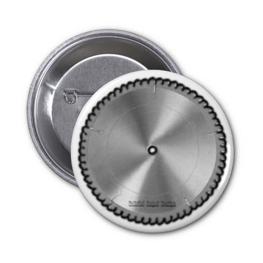 Saw Blade Pinback Buttons