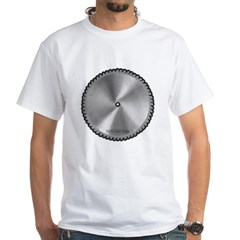 Saw Blade White T-Shirt