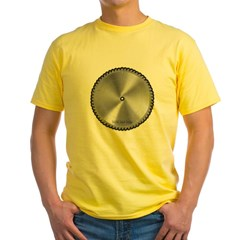 Saw Blade Yellow T-Shirt