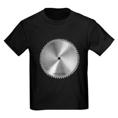 Saw Blade Youth Dark T-Shirt by Hanes