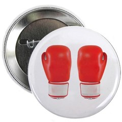 """Red Boxing Gloves 2.25"""" Button"""