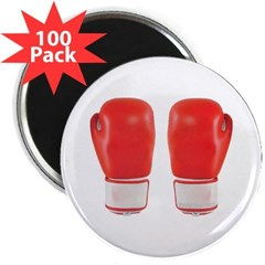 "Red Boxing Gloves 2.25"" Magnet (100 pack)"