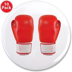 """Red Boxing Gloves 3.5"""" Button (10 pack)"""