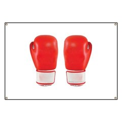 Red Boxing Gloves Banner